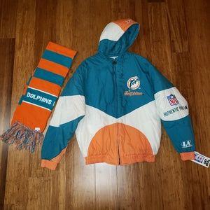 New Vintage 90s NFL Dolphins Jacket